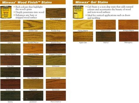 minwax colors minwax stain colors for the home