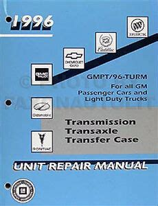 1996 Chevy Transmission Overhaul Manual Pickup Tahoe