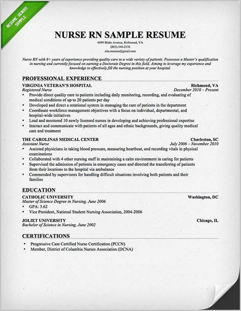 free resume templates for nurses best resume templates for nurses resume resume