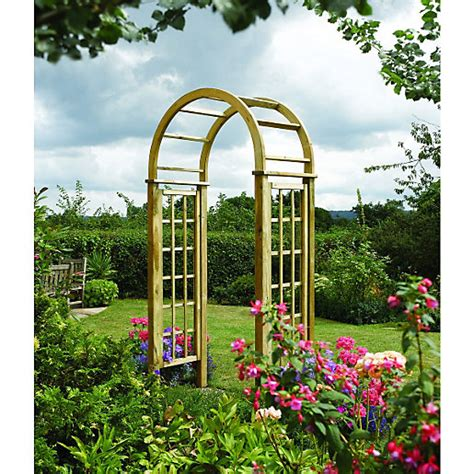 Curved Garden Trellis Rowlinson Curved Trellis Arch 1240 X 650 Mm Wickes Co Uk