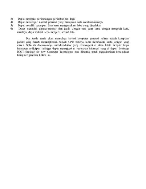 makalah membuat rangkaian paralel makalah perkembangan komputer dari awal hingga sekarang