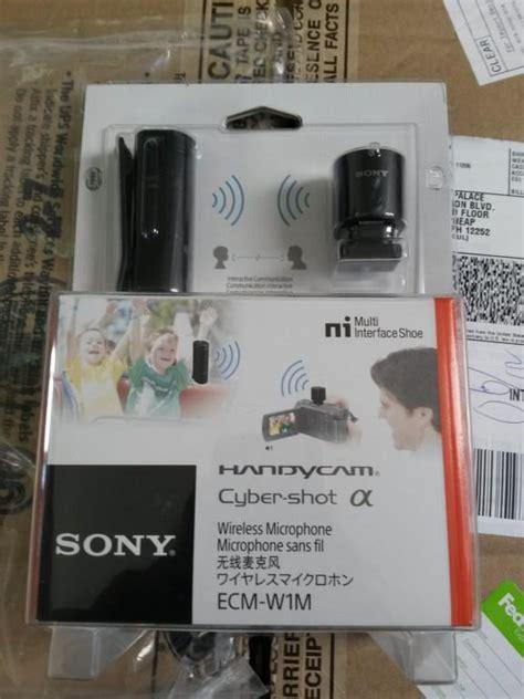 Sony Ecm W1m Wireless Microphone For Cameras With Multi Interface Shoe sony ecm w1m wireless microphone for cameras ecmw1m b h photo
