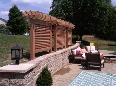 privacy screen backyard cedar privacy screen modern patio st louis by