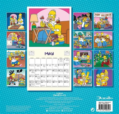 2018 the simpsons wall calendar day the simpsons calendars 2018 on abposters