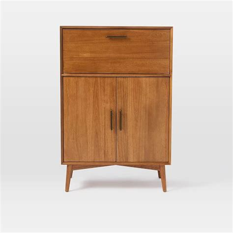 Large Bar Cabinet Mid Century Bar Cabinet Large West Elm