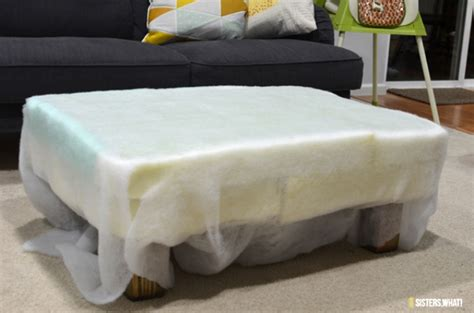 Ottoman Upholstery Diy by Diy Ottoman Makeover With Upholstery Leather Shelterness