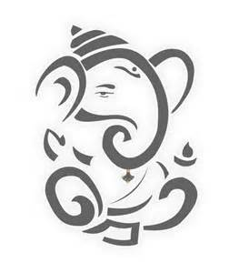 Ganesh Simple Line Drawings Sketch Coloring Page sketch template