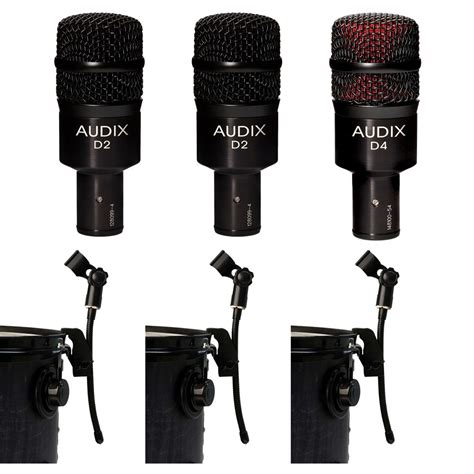 Icon D2 Dynamic Microphone 2 audix d2 dynamic microphones with d4 hypercardioid microphone and 3 dvice gooseneck mic