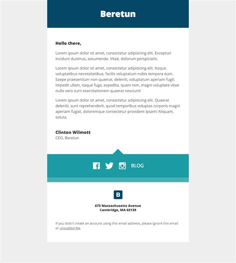 Beretun Stationery A Free Mautic Email Template Innotiom Email Stationery Templates Free 2