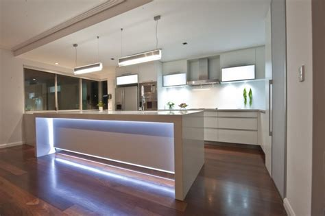 kitchen island bench lighting led lights in island bench homes by dalessio builder