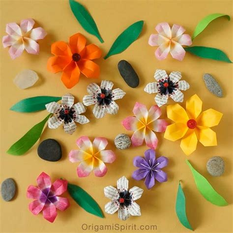 Origami Beautiful Flowers - origami flower beautiful easy and fast to fold pipe