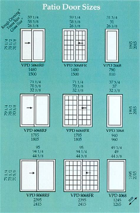 patio door sizes patio door sizes