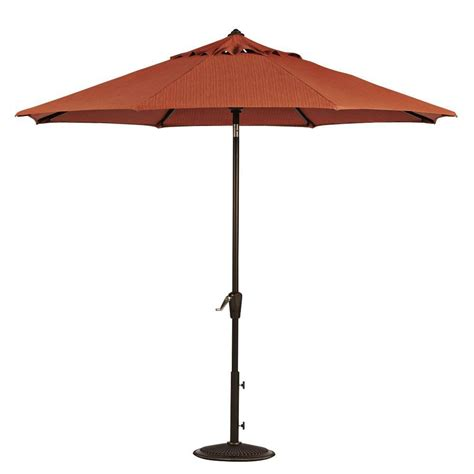 7 Ft Patio Umbrella Home Decorators Collection 7 5 Ft Auto Tilt Patio Umbrella In Papaya Sunbrella With Bronze