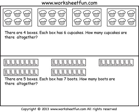 Multiplication Word Problems Worksheet by Repeated Addition Multiplication Word Problems Seven