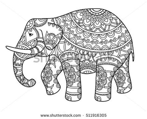 hard coloring pages of elephants outline drawing elephant stock images royalty free images
