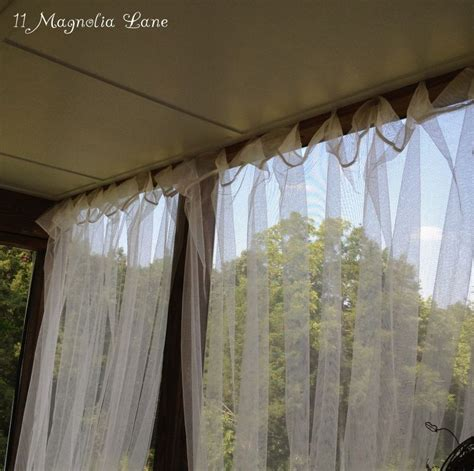 Privacy Sheer Curtains Easy Screened Porch Update Sheer Outdoor Curtains Add Privacy And Pizazz Sheer Curtains