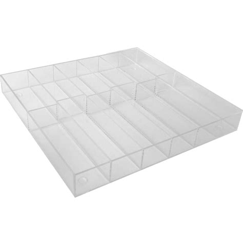Acrylic Drawer Divider by Acrylic Silverware Tray In Drawer Dividers