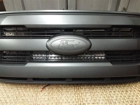 led light bar behind grill f150 20 quot led light bar behind lariat sport grille sneak peek