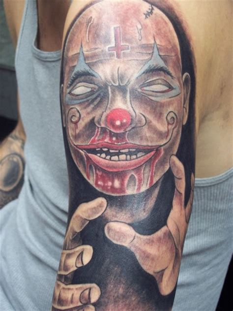 sad clown tattoo clown tattoos