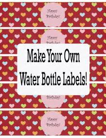 free printable water bottle label template bottle labels template cake ideas and designs