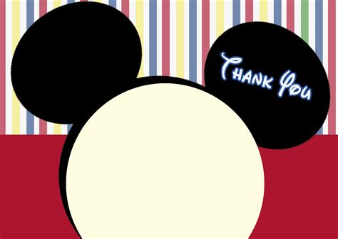 Mickey Mouse Thank You Card Template by Mickey Mouse Clubhouse Thank You Cards Mickey Mouse Note