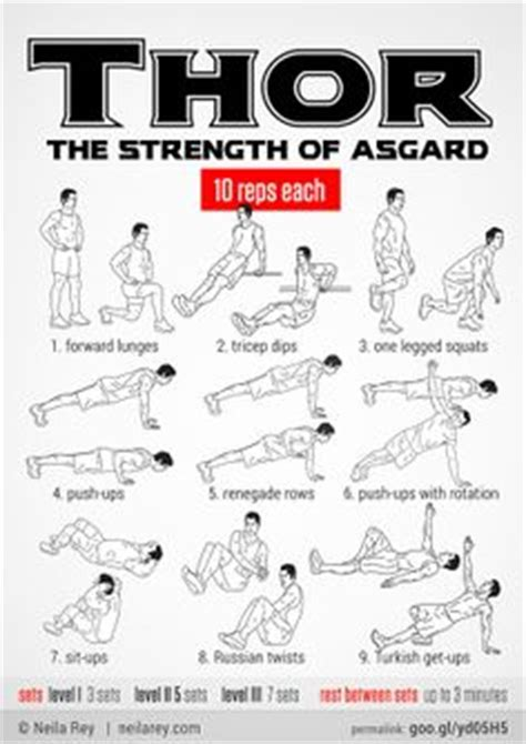 thor movie workout 1000 images about fitness on pinterest workout comic