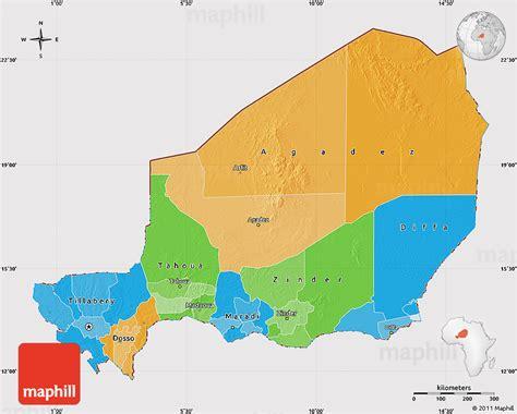 political map of niger niger politische karte