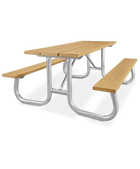 steel picnic table frame rectangular recycled plastic picnic table with heavy duty
