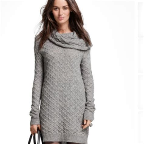 knitted dress h m h m grey cowl neck knit sweater dress from marty s