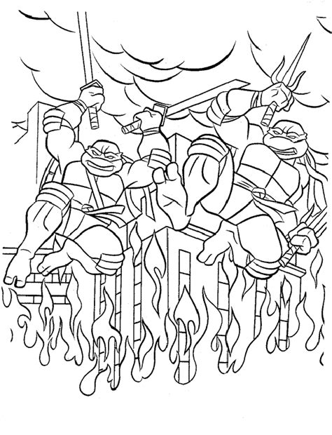 teenage mutant ninja turtles coloring page coloring home