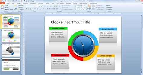 Analog Clock Powerpoint Template Powerpoint Dashboard Template Free