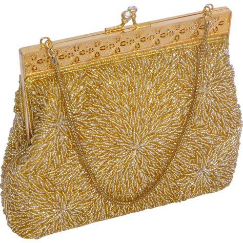 beaded evening bag vintage 1960s beaded evening bag goldtone glass from