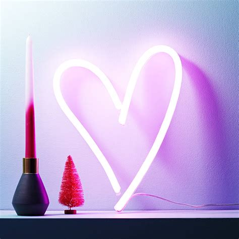 led neon light signs neon light up led heart sign by love inc