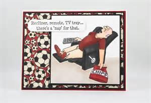 handmade man s birthday card for soccer dad funny