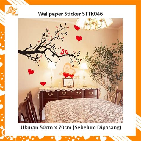 jual wallpaper dinding wall sticker kecil motif ranting