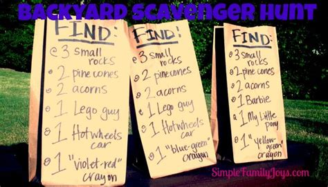 Backyard Scavenger Hunt Ideas Backyard Scavenger Hunt Sleepover Ideas Pinterest