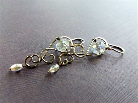 how to make wire wrap jewelry wire wrapping tutorial silver drops earrings