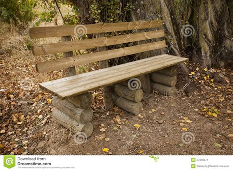 rustic park bench rustic park bench stock image image 27856971