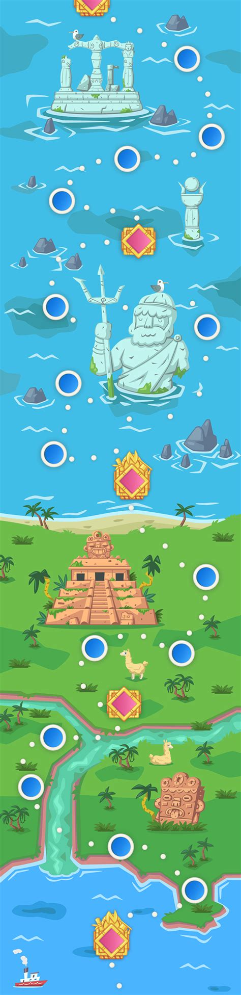 game design world map dr newton mobile game world map on behance