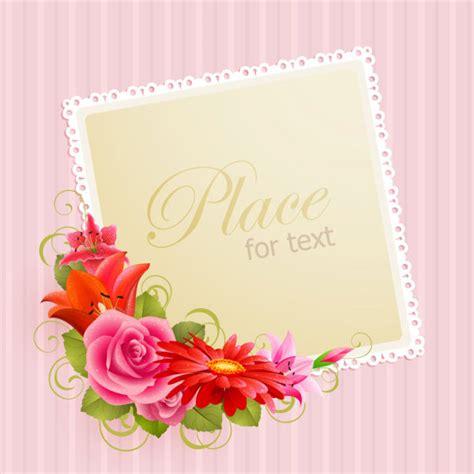 greeting card materials 4 designer flower greeting card 03 vector material