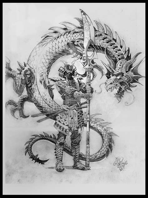 dragon warrior tattoo designs el samurai by elshazam on deviantart