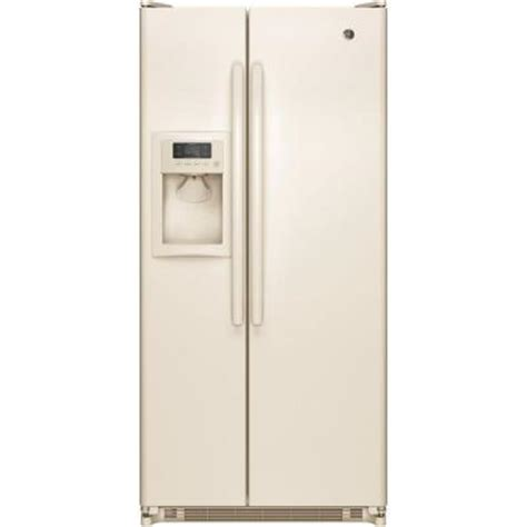bisque colored refrigerators 28 images shop ge profile ge 31 5 in w 20 0 cu ft side by side refrigerator in