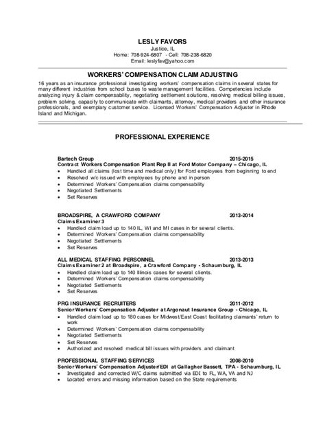 Workers Compensation Investigator Sle Resume by Claims Resume
