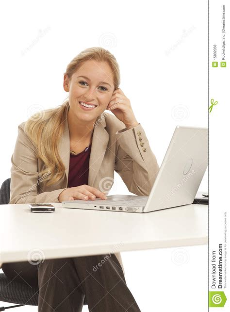 For Sitting At Desk by Business Sitting At Desk Royalty Free Stock Photos