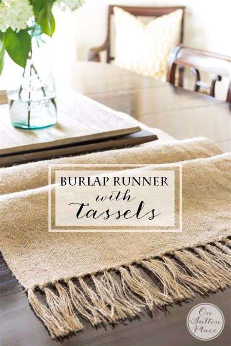 diy burlap table runner 50 creative diy projects made with burlap