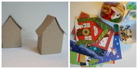 Papercraft Products - paper house ornament template 20 days of kid made ornaments