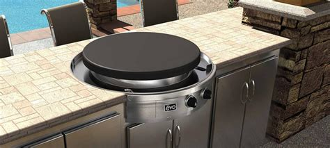 table with grill built in evo companion classic table top built in barbecue grill