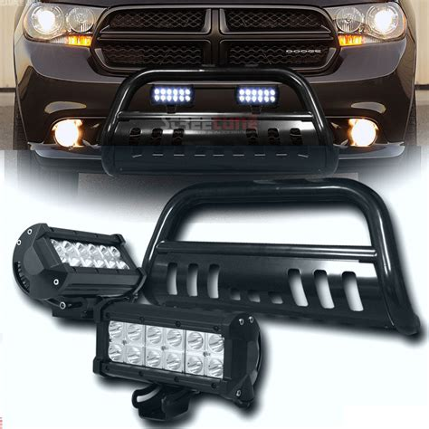 2011 dodge durango led tail lights 2011 2014 dodge durango black bull bar 36w cree led fog