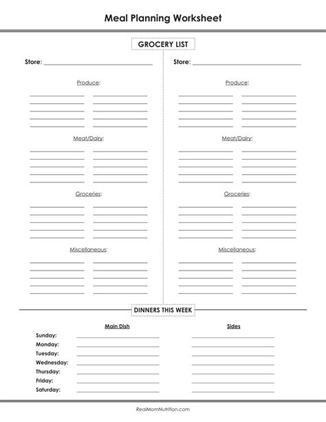free printable meal planning worksheet image gallery meal planning worksheet