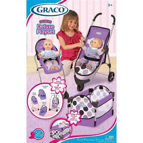 baby doll high chair set 3pc baby doll accessory set stroller high chair